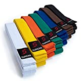 Supera - Cinturón de artes marciales Cinturón de Karate de tejido extra grueso....