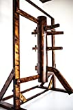 Wing Chun Wooden Dummy With Frame And Legs Walnut Color