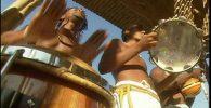 la musica en la roda de los capoeristas