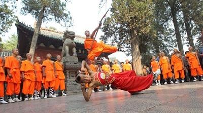 maestros de kung fu del templo shaolin
