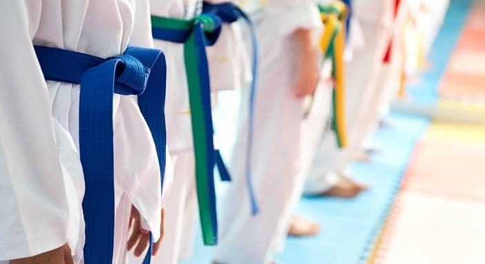 tipos de cinturones en taekwondo